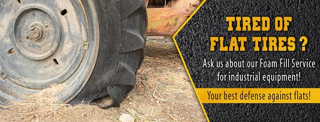 Foam Fill Tires Available